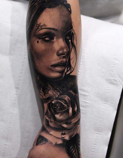 silvano fiato cicano tattoo realistic piccola copia