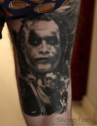 silvano fiato joker tatuaggio-guarito