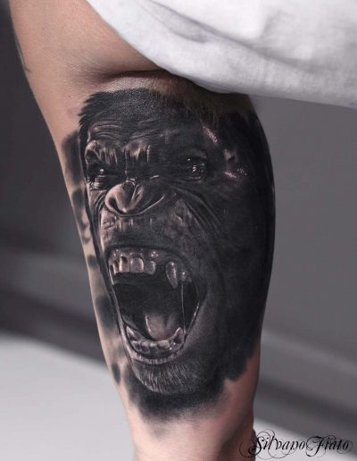 silvano fiato planet of the apes realistic tattoos