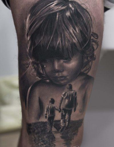 silvano fiato tattoo realismo ritratti portrait copia